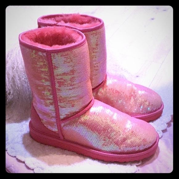 9f66524d8b2 UGG Australia Sequined Pink Sparkle Boots